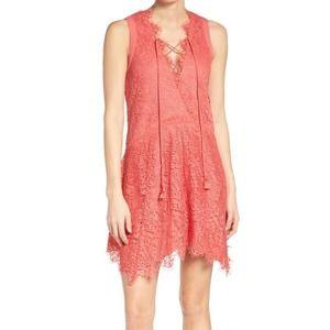 Adelyn Rae Eyelash Lace Woven Sleeveless Dress